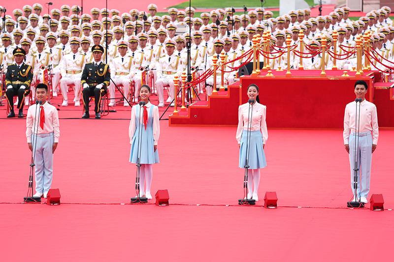 中国共产党成立100周年大会千人献词团领诵员