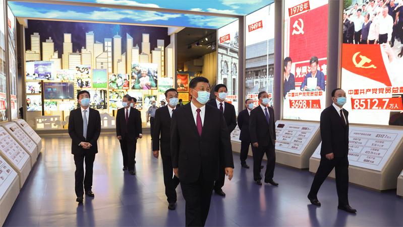 习近平等党和国家领导人参观中国共产党历史展览馆