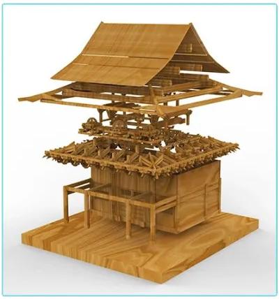 晚峰书屋榫卯建筑模型