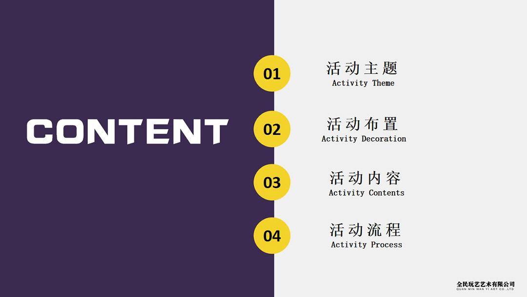 嘉翼智能十周年庆活动策划案目录