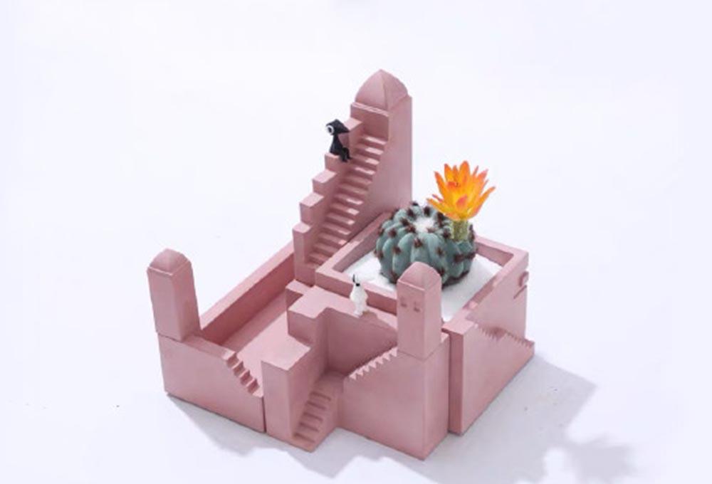 纪念碑谷花盆